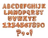 Επιστολή και ψηφία αλφάβητου μελοψωμάτων Χριστουγέννων ελεύθερη απεικόνιση δικαιώματος