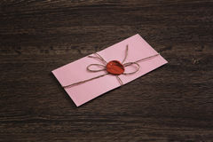 Επιστολή με τη σφραγίδα στον πίνακα Στοκ Εικόνα