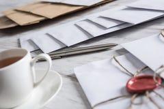 Επιστολή με τη σφραγίδα στον πίνακα Στοκ εικόνες με δικαίωμα ελεύθερης χρήσης