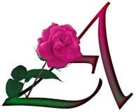 Επιστολή μια Floral ΠΗΓΗ απεικόνιση αποθεμάτων