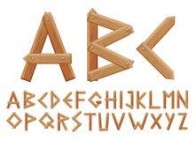 Επιστολή που γίνεται από τους ξύλινους πίνακες διανυσματική απεικόνιση
