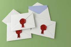 Επιστολή σε ένα πράσινο υπόβαθρο Στοκ Εικόνα