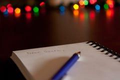 Επιστολή σε Santa Στοκ εικόνα με δικαίωμα ελεύθερης χρήσης