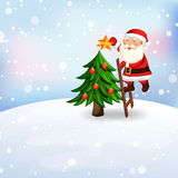 Επιστολή Χριστουγέννων σε Άγιο Βασίλη Στοκ Εικόνα
