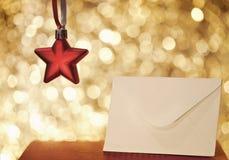Επιστολή Χριστουγέννων Στοκ Εικόνα