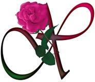 Επιστολή Χ Floral ΠΗΓΗ διανυσματική απεικόνιση