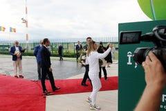 Simona Halep returns home with Wimbledon trophy