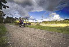 επιτάχυνση μοτοσικλετών Στοκ φωτογραφίες με δικαίωμα ελεύθερης χρήσης