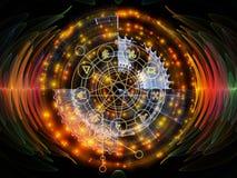 Επιτάχυνση του απόκρυφου κύκλου διανυσματική απεικόνιση