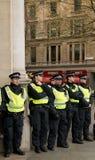Επιτήρηση αστυνομίας - διαδήλωση διαμαρτυρίας - Λονδίνο Στοκ Φωτογραφίες