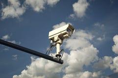 Επιτήρηση και κάμερα ασφαλείας CCTV Στοκ φωτογραφία με δικαίωμα ελεύθερης χρήσης