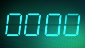 Επιταχυνόμενο ψηφιακό ρολόι + άλφα μεταλλίνη. απόθεμα βίντεο