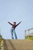 επιτευχμένη κορυφή Στοκ φωτογραφία με δικαίωμα ελεύθερης χρήσης