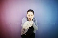 Επιτιθειμένος γυναίκα Στοκ φωτογραφία με δικαίωμα ελεύθερης χρήσης