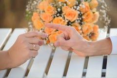 Επιτιθειμένος νύφη νεόνυμφων Στοκ Εικόνα