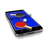 Επιτραπέζια αντισφαίριση αντισφαίρισης σε Smartphone, αθλητισμός App Στοκ εικόνες με δικαίωμα ελεύθερης χρήσης