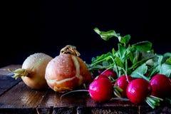 επιτραπέζια λαχανικά ξύλιν Στοκ εικόνα με δικαίωμα ελεύθερης χρήσης