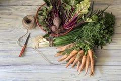 επιτραπέζια λαχανικά ξύλιν Στοκ Φωτογραφία