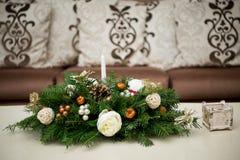 Επιτραπέζια διακόσμηση για τη ημέρα των Χριστουγέννων Στοκ Εικόνα