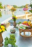 Επιτραπέζια διακόσμηση στο κτύπημα PA στο ayutthaya Ταϊλάνδη παλατιών Στοκ Εικόνες