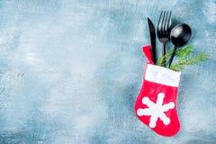 Επιτραπέζια θέση γευμάτων Χριστουγέννων στοκ εικόνα με δικαίωμα ελεύθερης χρήσης