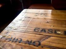 επιτραπέζια κορυφή ξύλινη Στοκ Εικόνες