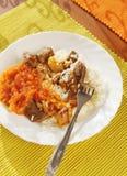 επιτραπέζια λαχανικά ρυζιού κρέατος Στοκ φωτογραφία με δικαίωμα ελεύθερης χρήσης