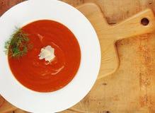 επιτραπέζια ντομάτα σούπα&sigm στοκ φωτογραφίες με δικαίωμα ελεύθερης χρήσης