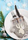 Επιτραπέζια ρύθμιση Χριστουγέννων Στοκ Φωτογραφία