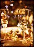 Επιτραπέζια τιμή τών παραμέτρων Χριστουγέννων Στοκ φωτογραφία με δικαίωμα ελεύθερης χρήσης