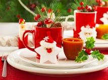 Επιτραπέζια τιμή τών παραμέτρων Χριστουγέννων Στοκ Εικόνα