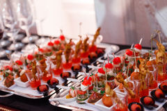 Επιτραπέζια τρόφιμα μπουφέδων Στοκ Εικόνες