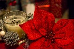 Επιτραπέζιες διακοσμήσεις Χριστουγέννων Στοκ φωτογραφίες με δικαίωμα ελεύθερης χρήσης