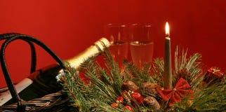 Επιτραπέζιες διακοσμήσεις Χριστουγέννων Στοκ Φωτογραφία