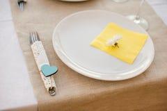 Επιτραπέζιοι διορισμοί για ένα γεύμα στοκ φωτογραφίες με δικαίωμα ελεύθερης χρήσης