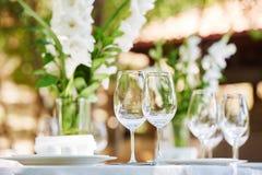 Επιτραπέζιοι διορισμοί εστιατορίων στοκ φωτογραφία