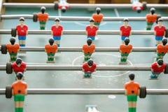Επιτραπέζιοι ποδοσφαιριστές από την κορυφή κάτω Στοκ Φωτογραφίες
