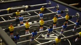 Επιτραπέζιο παιχνίδι ποδοσφαίρου απόθεμα βίντεο