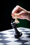 Επιτραπέζιο παιχνίδι σκακιού στοκ φωτογραφίες με δικαίωμα ελεύθερης χρήσης