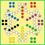 Επιτραπέζιο παιχνίδι του Ludo Στοκ φωτογραφίες με δικαίωμα ελεύθερης χρήσης