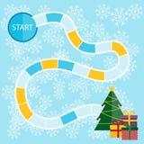 Επιτραπέζιο παιχνίδι Χριστουγέννων Στοκ εικόνες με δικαίωμα ελεύθερης χρήσης