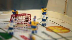 Επιτραπέζιο παιχνίδι χόκεϋ απόθεμα βίντεο