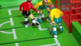 Επιτραπέζιο ποδόσφαιρο, επιτραπέζιο παιχνίδι παιδιών ` s απόθεμα βίντεο
