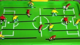 Επιτραπέζιο ποδόσφαιρο, επιτραπέζιο παιχνίδι παιδιών ` s, απόθεμα βίντεο