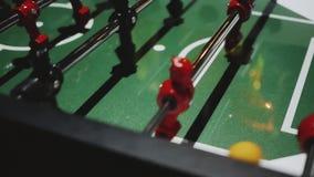 επιτραπέζιο ποδόσφαιρο foosball απόθεμα βίντεο