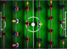 Επιτραπέζιο ποδόσφαιρο ή Kicker ποδοσφαίρου παιχνίδι Στοκ Εικόνες