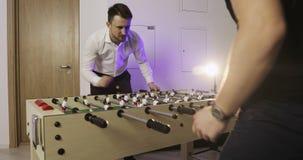 επιτραπέζιο ποδόσφαιρο απόθεμα βίντεο