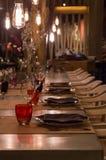 επιτραπέζιο τραπεζομάντιλο τηγανιτών γευμάτων χαβιαριών Στοκ Εικόνα