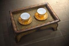 επιτραπέζιο τσάι λεμονιών μπισκότων Στοκ Εικόνα