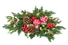 επιτραπέζιο τύλιγμα διακοσμήσεων Χριστουγέννων κεριών Στοκ φωτογραφία με δικαίωμα ελεύθερης χρήσης
